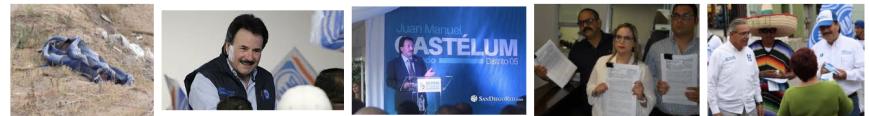 Juan Manuel Gastelum Malrostro en campaña con el ahora delegado CHON Salvador Lujano y un muertito nomás, de los mas de 600 que van en la administracion de tan pobres politicos en ti