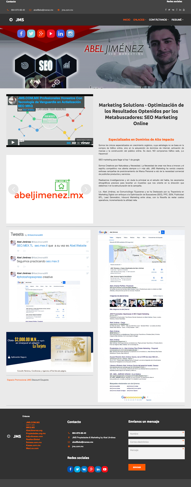 Abel Jimenez Nuevo portal Inmobiliario  Marketing
