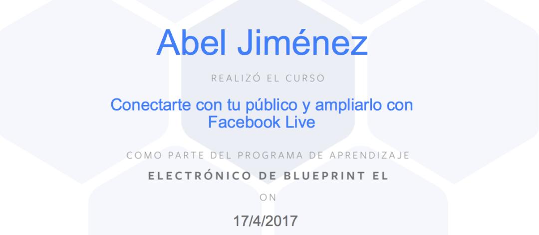 Parte del Programa de Aprendizaje Electrónico de BluePrint Enfocado a Periodistas y las Transmisiones en Vivo que Ofrece la Red Social.